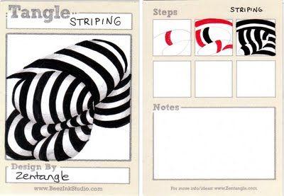 Striping: Tangled Art, Zentangleoffici Tangled, Tangled Patterns, Amazing Tangled, Art Zentangle, Zentangle Zentangle Patterns, Zentangle S, Zentangle Doodles, Steen Bartholomew