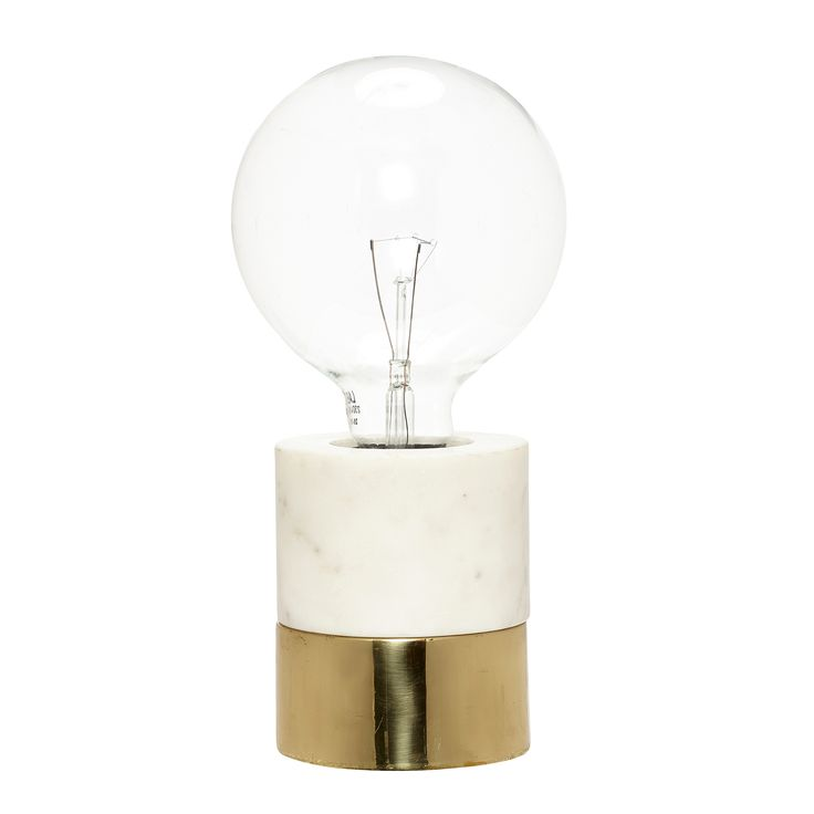 Marble and brass table lamp. Product number: 519007 - Designed by Hübsch