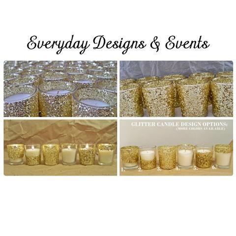 25 gold glitter votive candles, gold glitter votives, votive candles, wedding candles, centerpiece, party centerpiece, gold decorations