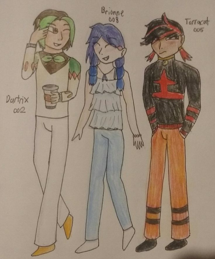 Human Dartrix, Torracat and Brionne by Me, Rustypaw