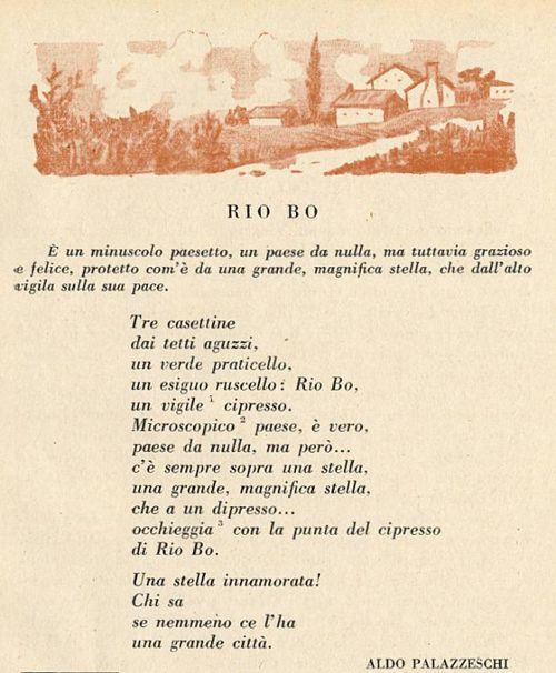 """""""Rio Bo"""" di Aldo Palazzeschi"""