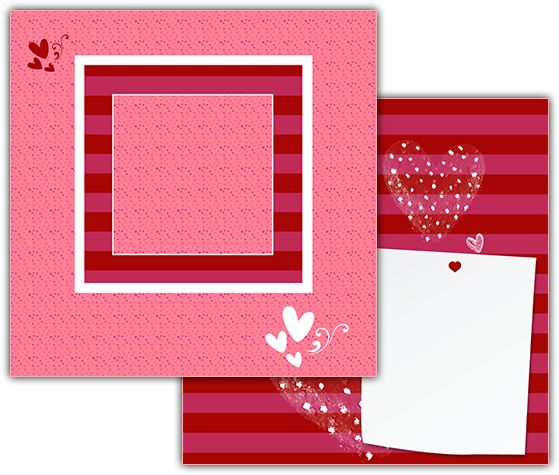 Download this Love Notes Scrapbook Layout and other free printables from MyScrapNook.com