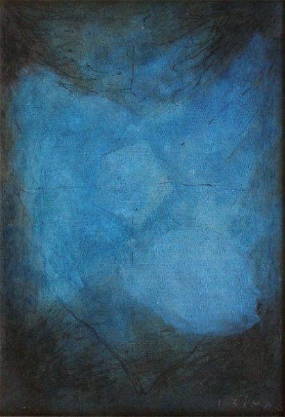 Joseph SIMA. L'espace bleu 1968