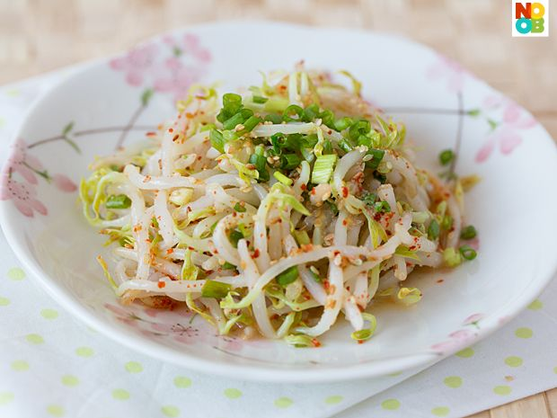 Korean bean sprout salad (Sukju Namul)