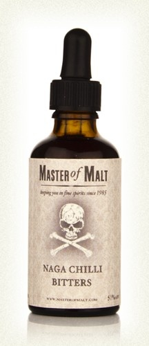 Master of Malt's Naga Chilli Bitters is made with some of the hottest chili on earth and creates an astounding 250,000 Scoville units. Serious stuff!