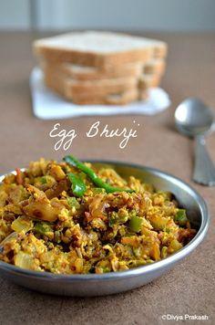 Divya's culinary journey: Egg Bhurji / Muttai Masala Poriyal