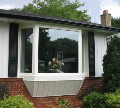 bay window these windows project from the side of the house adding light and