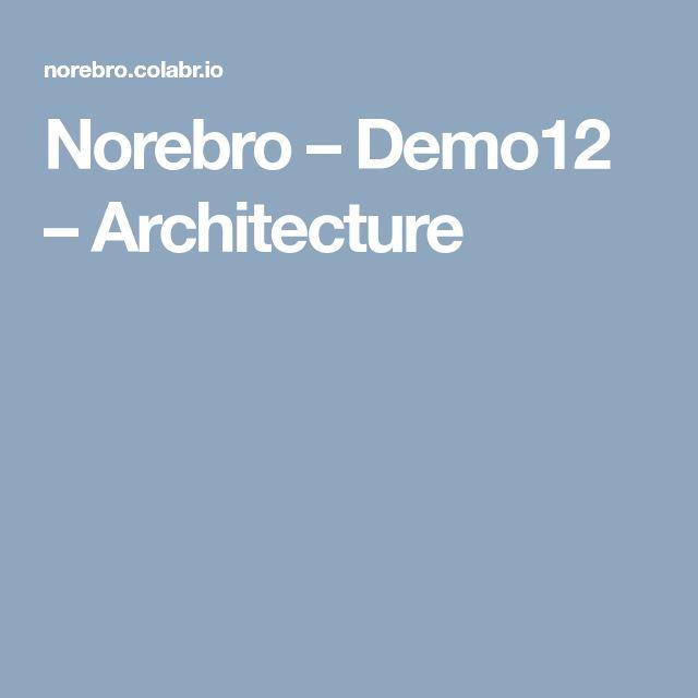 Norebro – Demo12 – Architecture