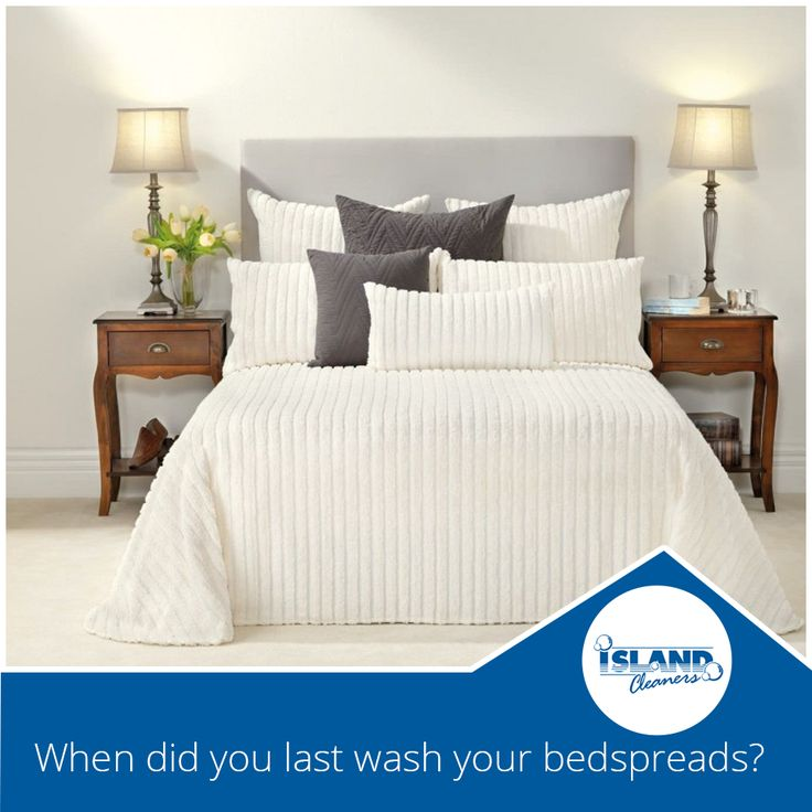 When did you last wash your bedspreads?  Don't put clean sheets on dirty bedspreads!  Let Island Cleaners give you a better quality sleep with fresh clean bedspreads, blankets, and comforters.  #IslandCleaners #laundryservices #bedspreads #comforters #blankets #duvets #drycleaning #caymanislands