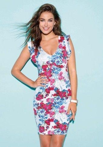 Šaty s celopotlačou kvetov #Modinosk xdress #saty #outfit #flowers