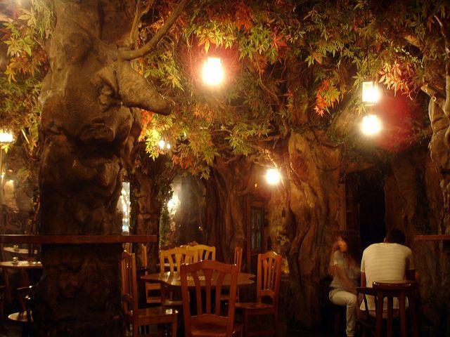 Best 20 forest cafe ideas on pinterest bar interior restaurant interior design and bar - Firefly barcelona ...