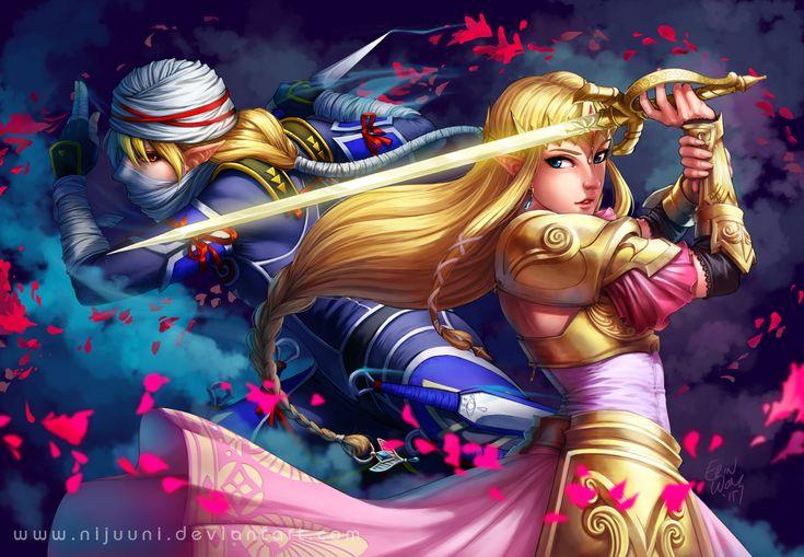 Hyrule Warriors - The Princess and her Shadow by Nijuuni.deviantart.com on @DeviantArt