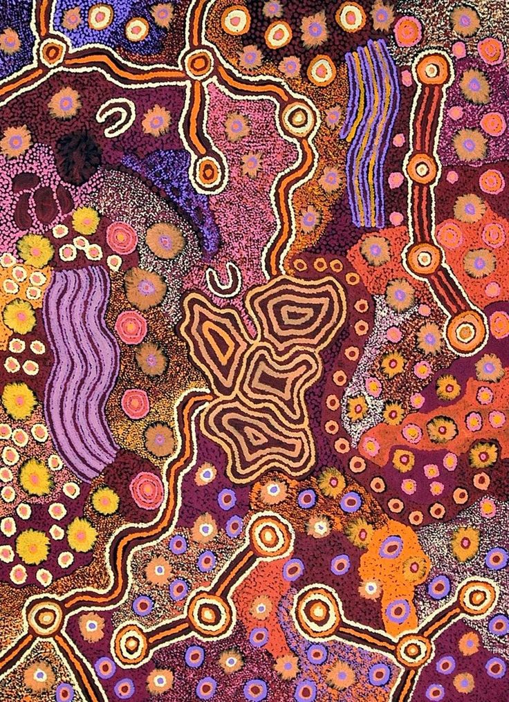 Aboriginal Art -artist unknown So many designs here. How fascinating.