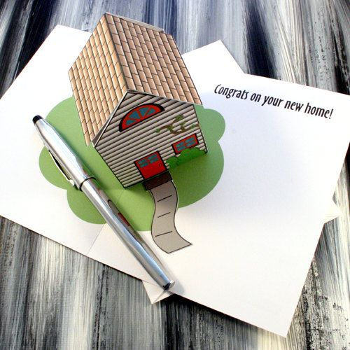 Congrats On Your New Home  Pop Up House by TwistedOakGreetings