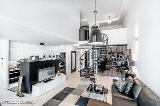Myytävät asunnot, Posliinipiha 1 B, 00560 Helsinki #oikotieasunnot #loft