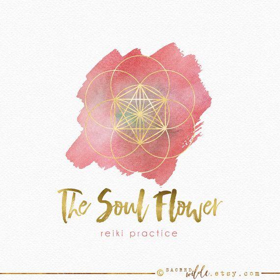 Seed of Life Logo Design , Flower of Life Logo , Geometric Logo , Sacred Geometry , Gold Foil , Gold Geometric Logo , Mandala Logo