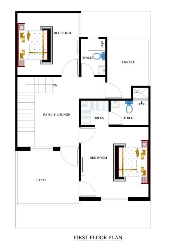 25x40 house plans for your dream house - House plans | plans de