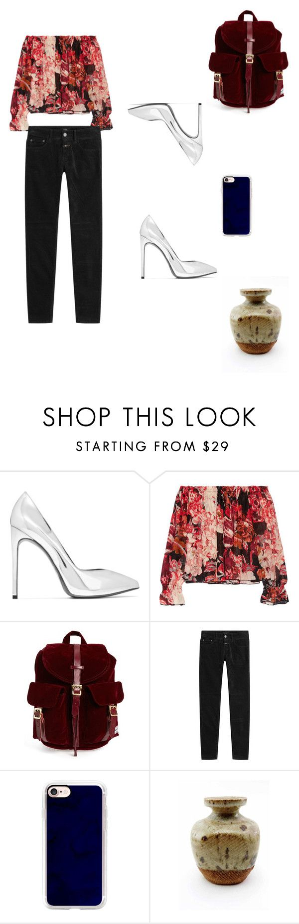 """""""2017.1.14"""" by joe-khulan on Polyvore featuring Yves Saint Laurent, Elizabeth and James, Herschel Supply Co., Closed and Casetify"""