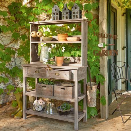 Pflanztisch- Dieser Pflanztisch ist ein toller Blickfang und bringt Farbe auf Deinen Balkon. - ab 398,00€
