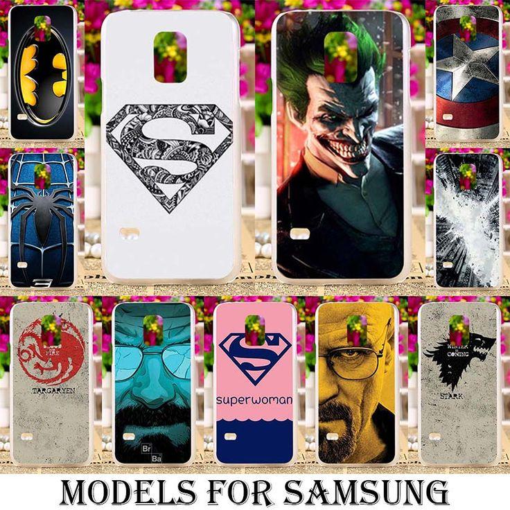 Superhero Soft TPU Hard Plastic Cases for Samsung Galaxy