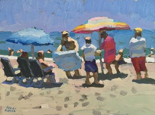 Painting of the week Peggi Kroll Roberts Beach in a...