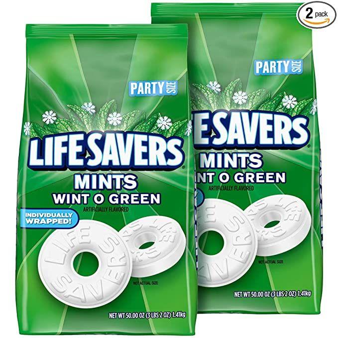 Amazon.com : Life Savers Mints Wint-O-Green Hard Candy, 50 ...