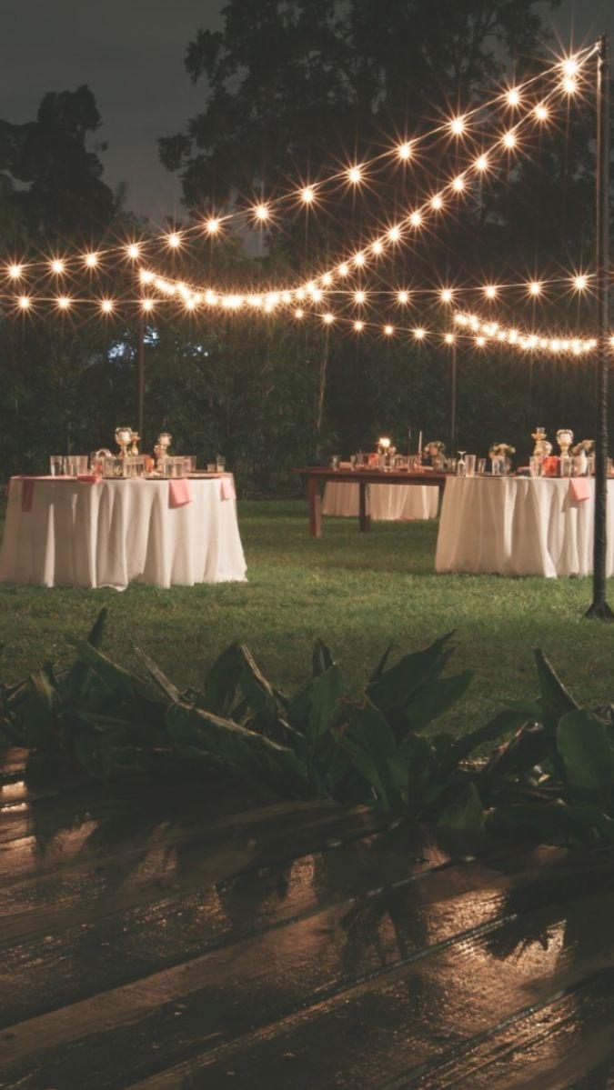 Backyard Wedding Decorations, Diy Outdoor Weddings, Outdoor Wedding Theme, Whimsical Wedding Decor, Outdoor Rustic Wedding Ideas, Outdoor Wedding Lights, Small Wedding Decor, Outdoor Tent Wedding, Small Garden Wedding