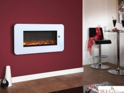 The Celsi Touchflame electric fire features a digital touchscreen control panel which is built-in to the fascia of the product and can be used to control the whole functionality of the product.  The flame speed can be adjusted and the flame colour can be set to one of 4 modes including a dynamic mode which provides a constantly changing flame picture.  The ember bed colour can be changed to suit your décor or your mood with 8 different modes including red, blue, green and dynamic effect.