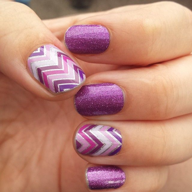 Newest spring look! Fizzy Grape and the awesome chevron is called Happily Ever After! These nail wraps are available @ http://katy16.jamberry.com