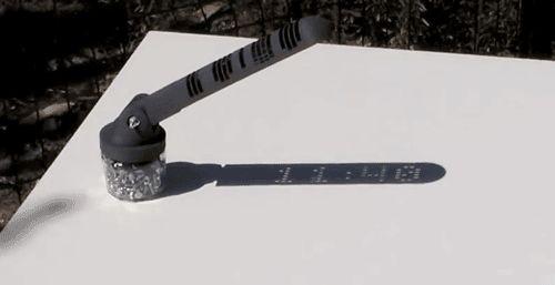 Benjamin Starr 3D Printed Digital Sundial