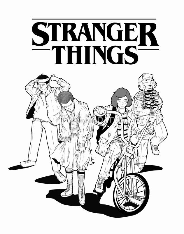 Stranger Things Coloring Page Elegant Stranger Things Poster Posters By Petshap Incs In 2020 Stranger Things Poster Stranger Things Stranger Things Art