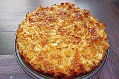 Apfelkuchen mit Mandelguss 1
