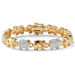 Elephant bracelet, my friend would LOVE this!