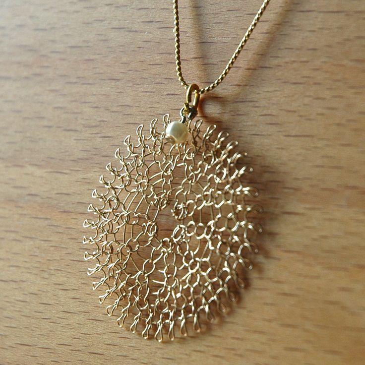 Wire Jewelry Crochet Pattern of YoolaFlower ONLINE VIDEO by Yoola