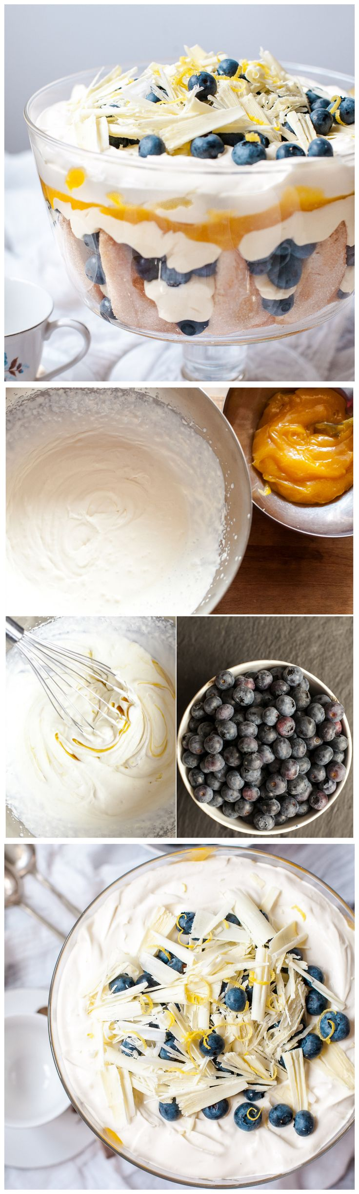 All the delicious flavours of a blueberry and white chocolate cake without the work!