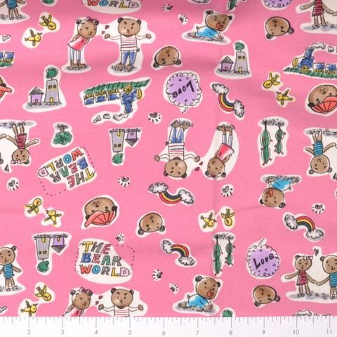 bear world Japanese fabric
