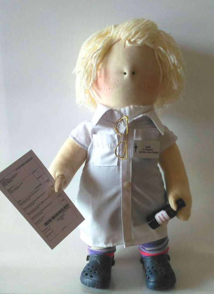 Pharmacist - handmade doll