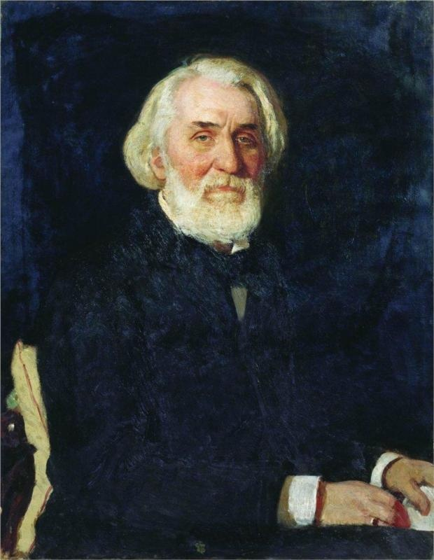 Portrait of Ivan Turgenev, 1879  Ilya Repin