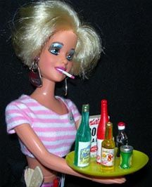wine & cigarettes barbie :)  WHy does this make me laugh?  I have no idea. Don't judge.