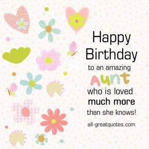 Happy Birthday to an amazing Aunt