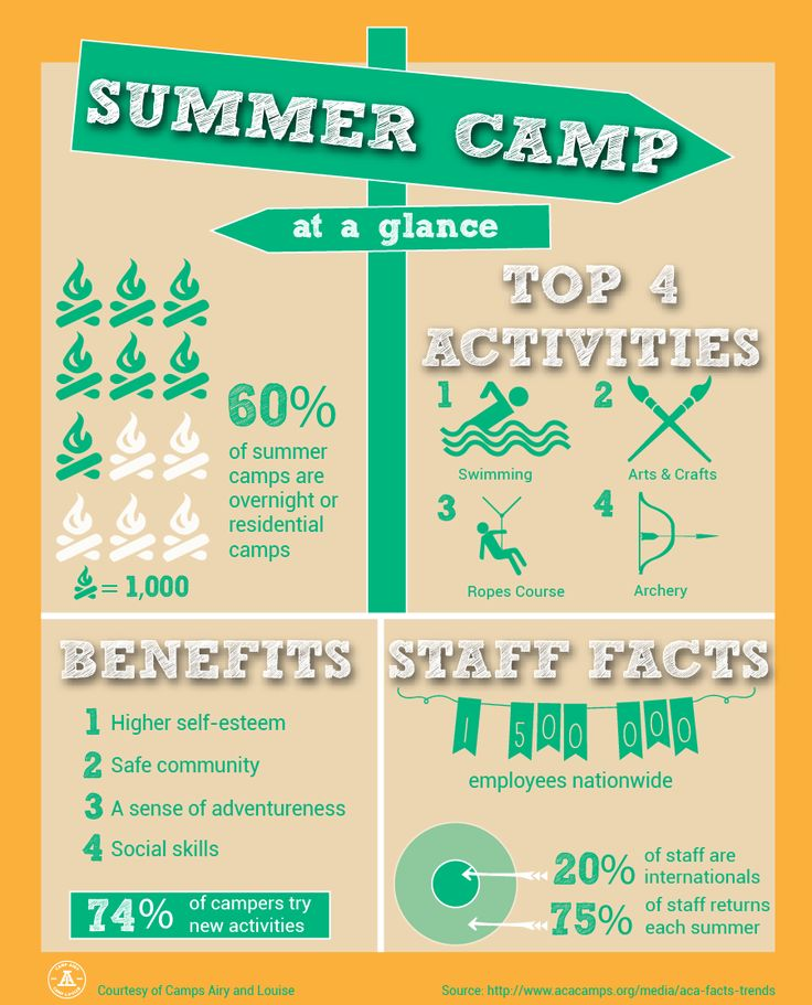 Summer Camp At A Glance - Fast Facts | Craft Ideas ...