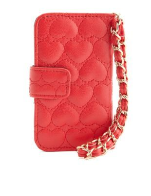 heart quilted cell phone wristlet