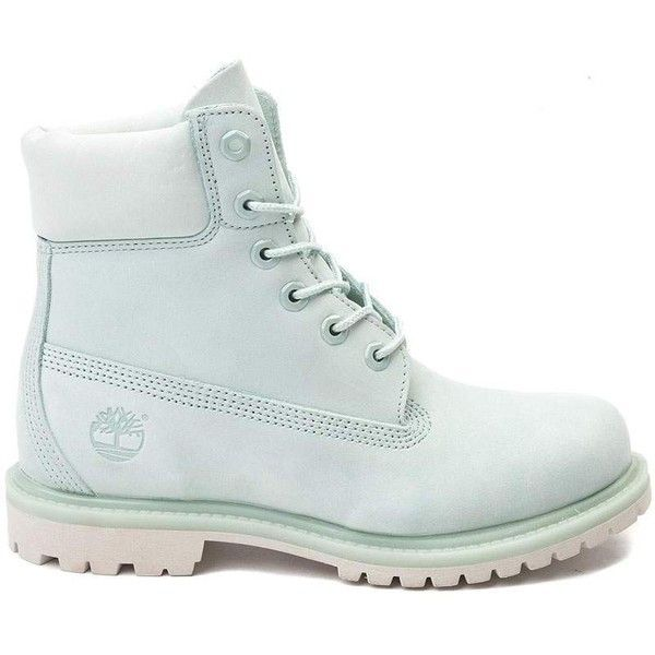 """Womens Timberland 6"""" Premium Boot ($170) ❤ liked on Polyvore featuring shoes, boots, timberland boots, traction shoes, nubuck leather shoes, rugged boots and lug-soled shoes"""