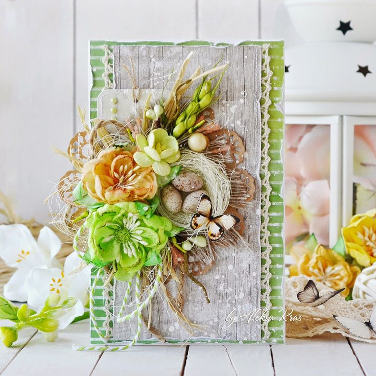 Handmade by Aleksa Kras: Пасхальная открытка в эко-стиле