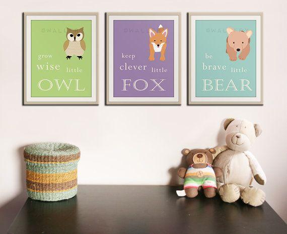 Baby nursery art prints. Inspiration typography prints. by Wallfry
