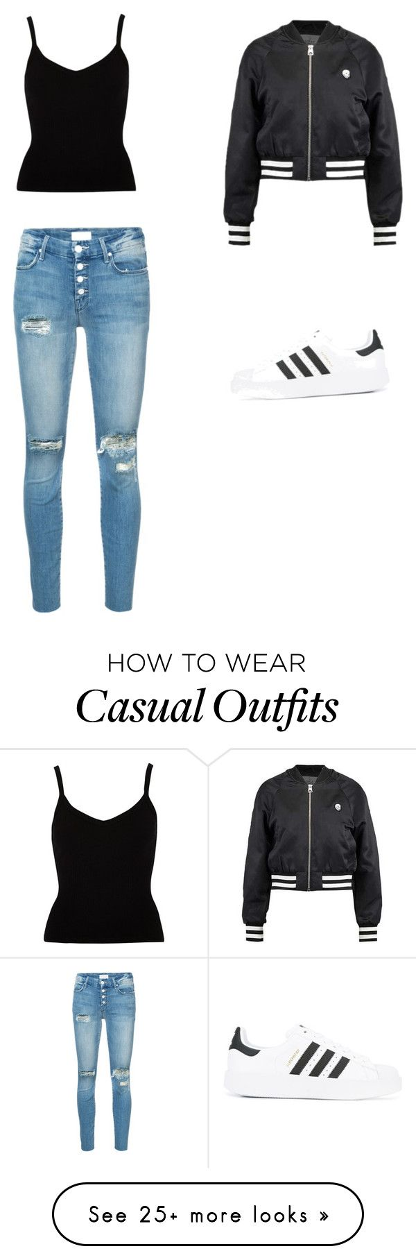 """""""Casual 2"""" by akasperski on Polyvore featuring Cheap Monday, Mother and adidas"""
