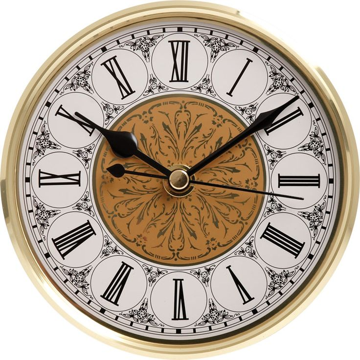 5 1 8 Quot Fancy Clock Insert With Gold Bezel Fancy Clock