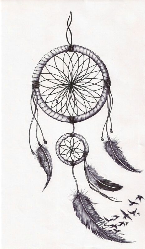 Image de drawing and dreamcatcher