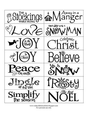 Best 25+ Christmas words ideas on Pinterest Holiday sayings - free word christmas templates
