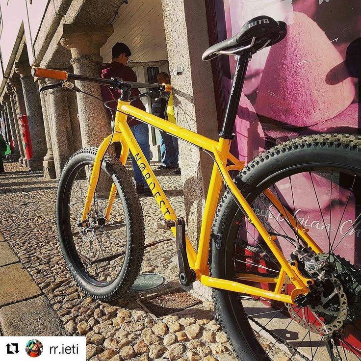 #Repost @rr.ieti (@get_repost)  O amarelo fica-me tão bem. A testar a @nordestcycles Sardinha pela Mais Alta! Hoje foi só dia de adaptação. Nas próximas 2 semanas vai ser a minha ferramenta de trabalho pela Grande Rota do Zêzere.  #bikepacking #guarda #a2zconsulting #granderotadozêzere #650b #steelisreal #yellow